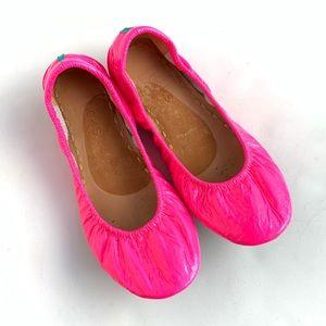 Tieks Ballet Flats Pop Pink Neon Patent Size 6